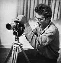 James Dean with Bolex Camera