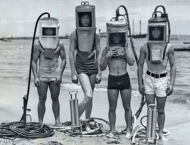 Four DIY Divers - circa 1940s