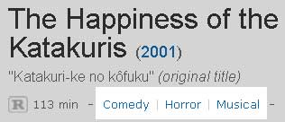 Comedy | Horror | Musical