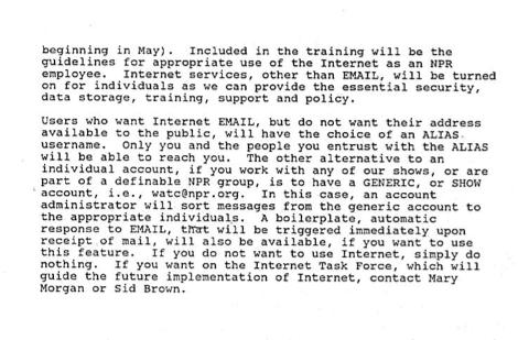 NPR To Get Internet