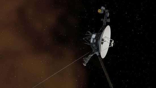 Image: An artists conception of the space around Voyager 1. NASA/JPL-Caltech