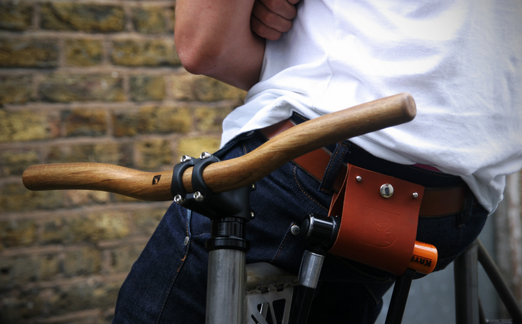 Deer runner oak handle bars