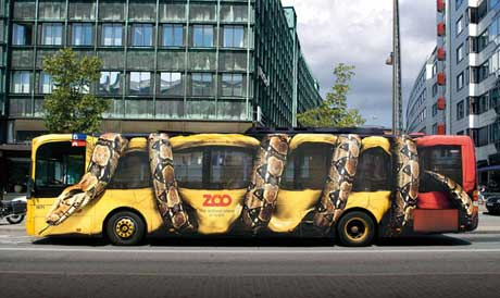 Anaconda Bus Optical Illusion