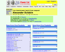 classical MP3 directory