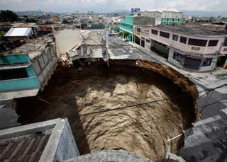 Guatemalan Sinkhole - May 31, 2010
